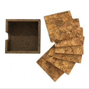 ❤️3/$30 Set of 6 cork coasters in holder,